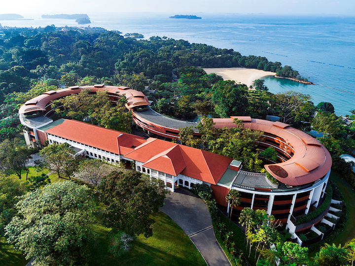 A view shows the Capella Hotel, the venue for the June 12 summit between U.S. President Donald Trump and North Korean leader Kim Jong Un, on Singapore's resort island of Sentosa, in this undated handout obtained by Reuters on June 7, 2018. Capella Singapore/Handout via Reuters ATTENTION EDITORS - THIS PICTURE WAS PROVIDED BY A THIRD PARTY. NO RESALES. NO ARCHIVES. - RC1EFD9B2E70